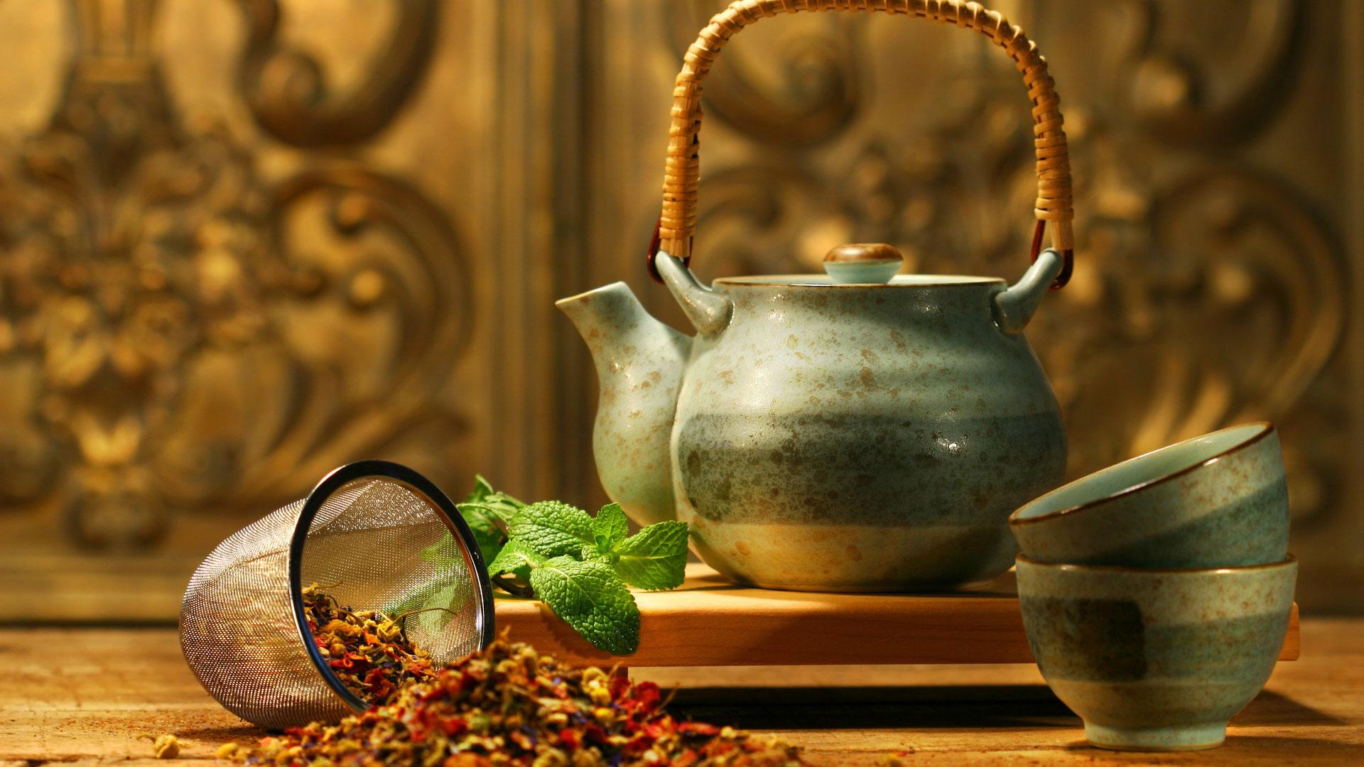 чай красиво на столе