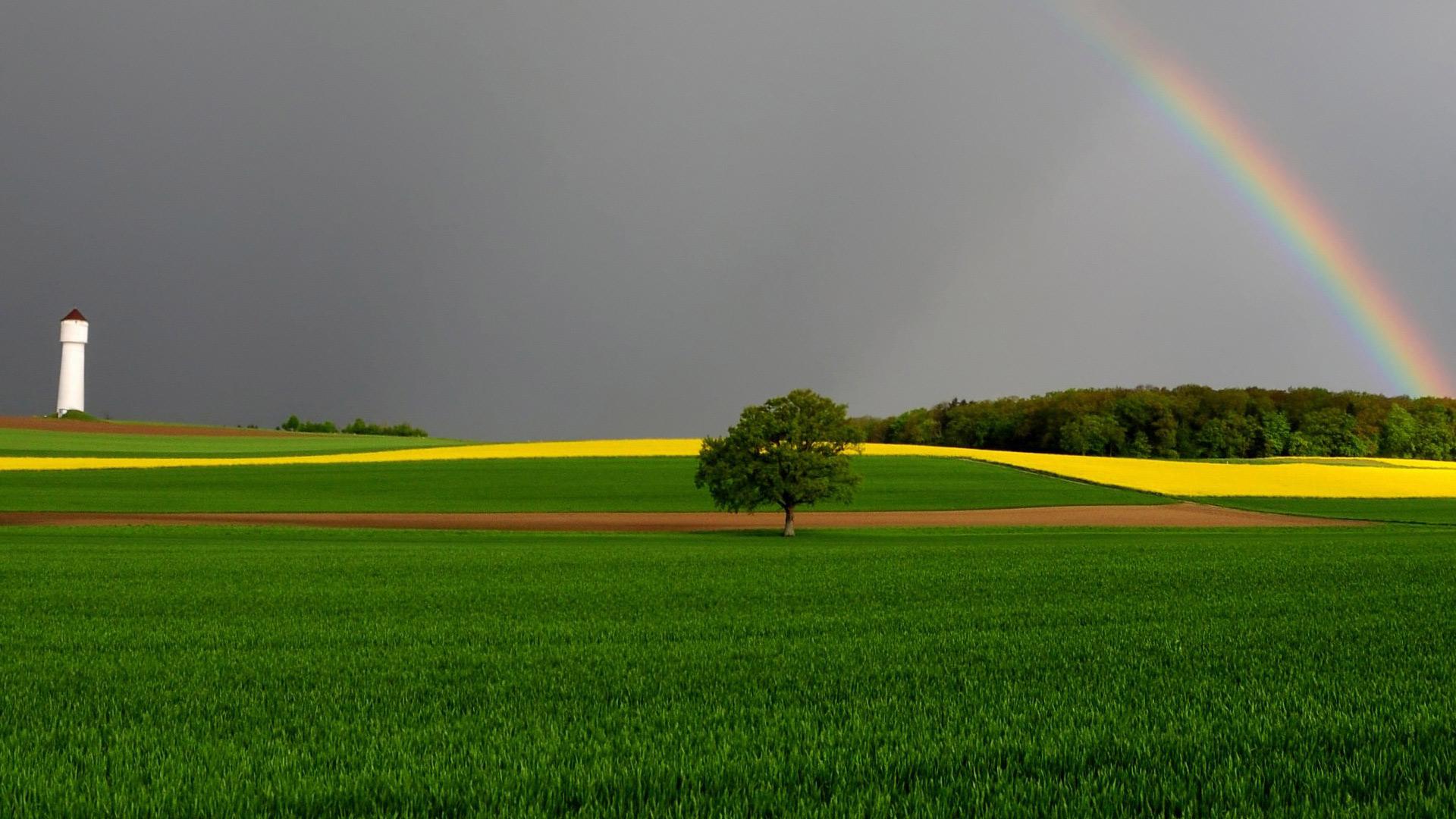 роскошное фотографии с радугой большое разрешение все