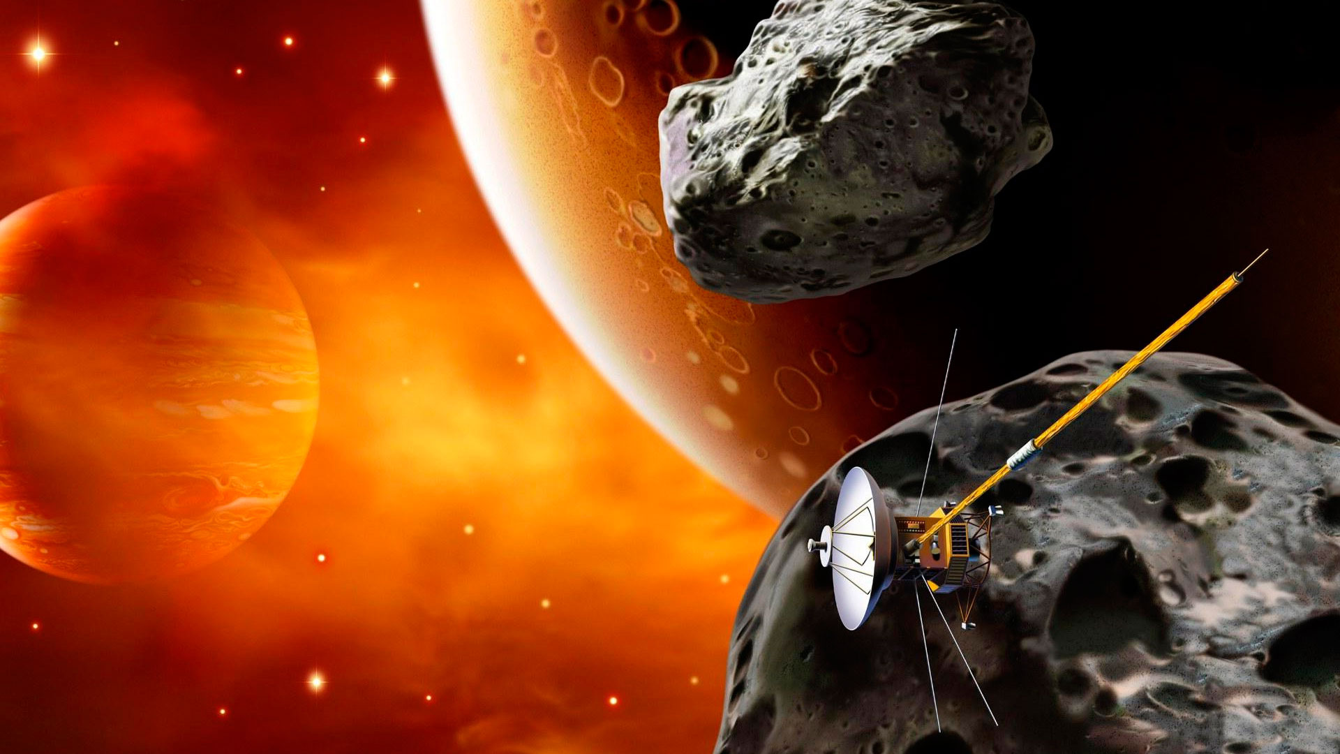 Обои спутник, планеты, катастрофа. Космос foto 12